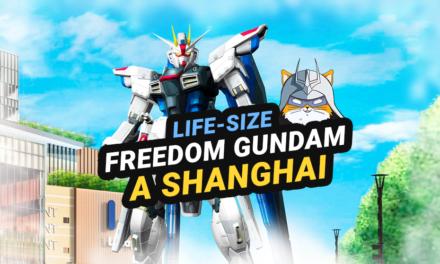 Life-Size Freedom Gundam a Shanghai