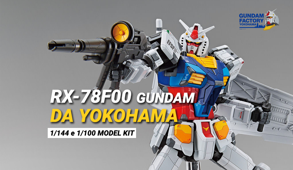 Gunpla RX-78F00 Gundam da Yokohama