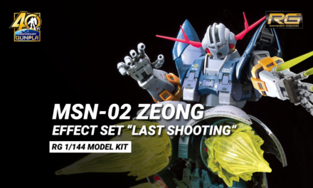"RG 1/144 Zeong con l' Effect set ""Last Shooting"""